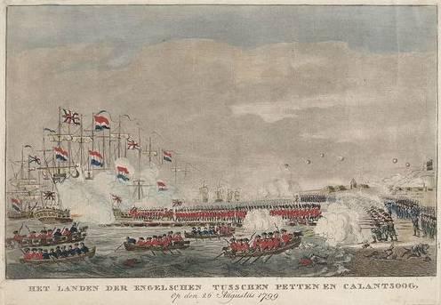 [Het landen der Engelschen tusschen Petten en Callantsoog op den 26 Augustus 1799]